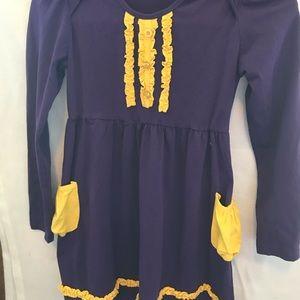 Smock Candy Purple & Yellow Dress